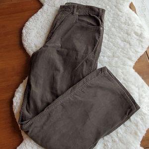 """Eddie Bauer 36"""" x 32"""" brown corduroy pants"""
